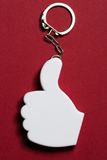 Okay sign badge. On metal key ring royalty free stock images