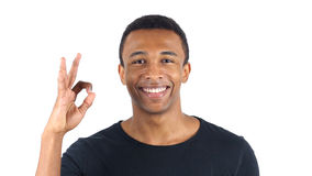Okay Sign by Black Man. High quality Stock Images