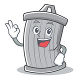 Okay trash character cartoon style Stock Photography