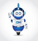 Okay unterzeichnen Sie herein Roboter-Form stock abbildung
