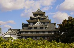 Okayama castle known as `crow castle` due to its black exterior is a Japanese castle in the city of Okayama, Japan stock image