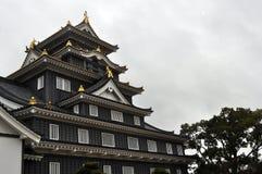 Okayama Castle. (nicknamed Ujyo) in Japan Stock Photos