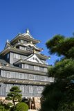 Okayama Castle. a Symbol of Okayama City. Okayama Castle, destroyed in WWII, was reconstructed in 1966. It is also known as the Crow Castle because of its stock photo