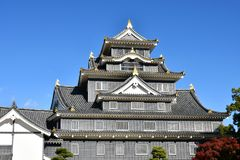 Okayama Castle. a Symbol of Okayama City. Okayama Castle, destroyed in WWII, was reconstructed in 1966. It is also known as the Crow Castle because of its stock image