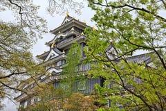 Okayama, Japan. Okayama Castle in Japan. Chugoku region old landmark stock photos