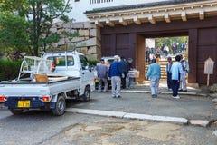 Okayama Japan - November 17 2013:  Oidentifierad grupp av pensionären Royaltyfri Bild