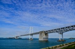 Seto Ohashi Bridge in Okayama, Japan. Okayama, Japan - Oct 5, 2017. Great Seto Bridge at sunny day in Okayama, Japan. Seto Bridge is a collective term for the Stock Photo