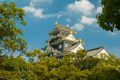 Okayama-jo castle. Japan - city in the region of Chugoku (Honshu island royalty free stock photo