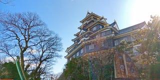 Okayama kasztel, Japonia obrazy royalty free