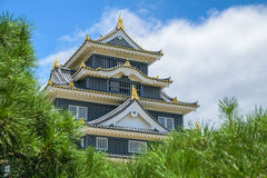 Okayama-Schloss oder Krähen-Schloss Stockfoto