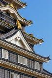 Okayama slott eller galandeslott i Okayama Arkivfoton