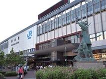Okayama stacja w Okayama, Japonia Fotografia Royalty Free