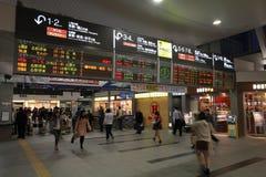 Okayama station i Japan Fotografering för Bildbyråer