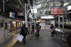 Okayama station, Japan Arkivbilder