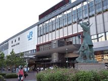 Okayama-Station in Okayama, Japan Lizenzfreie Stockfotografie