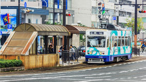 Okayama Street Car Stock Image