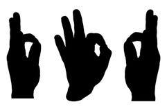 OKAYhandzeichen-Vektor 01 lizenzfreie abbildung