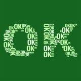 OKAYwortwolke Stockbild