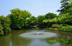 Okazaki Park with tender green in Aichi, Japan Stock Image