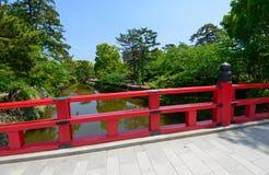 Okazaki Park with tender green in Aichi, Japan Stock Photo