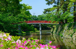 Okazaki Park with tender green in Aichi, Japan Royalty Free Stock Images