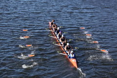 Okc RiverSport участвует в гонке в голове Чарльза Стоковая Фотография RF