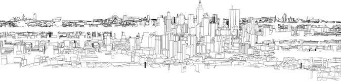 Okcydentalny współczesny Płaski miasto krajobraz ilustracja wektor