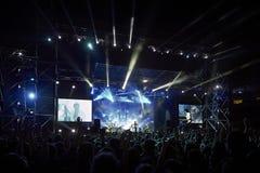 Okean Elzy执行活在利沃夫州竞技场 免版税库存照片