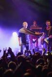 Okean Elzy concert in Helsinki in front a crowd Stock Image