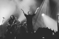 Okean Elzy concert in Helsinki in front a crowd Stock Photos