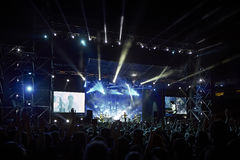 Okean Elzy performing live at Lviv Arena Royalty Free Stock Photo
