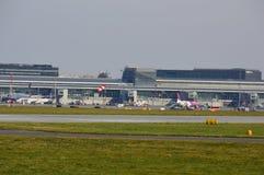 Okecie机场看法在华沙 库存图片