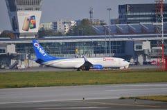 Okecie机场看法在华沙 免版税库存图片