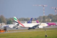Okecie机场看法在华沙 免版税图库摄影