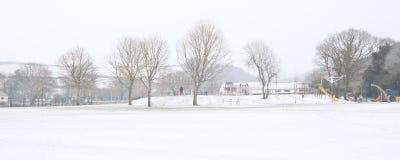 Okehampton Devon Reino Unido del invierno del parque de Simmons Fotos de archivo