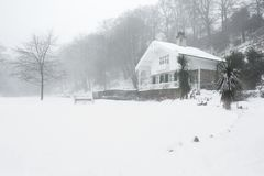 Okehampton Devon Reino Unido del invierno del parque de Simmons Imagen de archivo libre de regalías