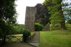 Okehampton slott Cornwall UK Royaltyfria Bilder