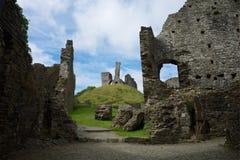 Okehampton slott Cornwall UK Royaltyfri Foto