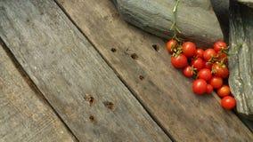 OkenTomato, cereza, tomate rojo, pequeño tomate del spaeski Fotos de archivo