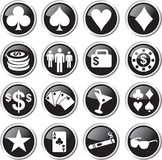 Oker icon set Stock Photos