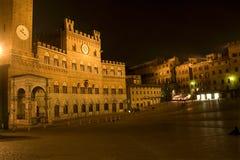 Oker - Piazza del Campo Stock Afbeelding