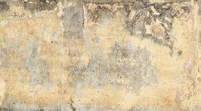 Okerandg Greige grunge cementeert achtergrond met zeer geweven texturen en verwering - stock fotografie