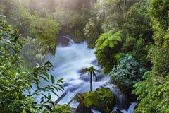 Okere Falls In Rotorua off Lake Rotoiti After Heavy Rain Stock Photo
