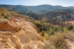 Okers van Colorado Provencal - Rustrel - de Provence - Frankrijk royalty-vrije stock afbeeldingen