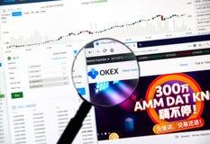 OKEX cryptocurrency exchange Stock Photography