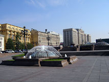 Okhotny Ryad in the center of Moscow stock photography
