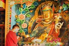 Okhrey kloster, Sikkim, Indien Royaltyfri Bild