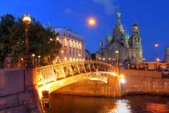 桥梁okhtinsky彼得斯堡俄国圣徒 库存照片