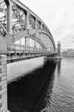 okhtinsky petersburg russia för bro saint bolsheokhtinsky bro Fotografering för Bildbyråer