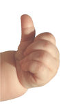 Okidoki - clipping path. Baby Thumb Up, clipping path included stock photography
